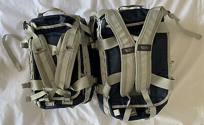 Two The North Face Base Camp Duffel Rucksack Backpack Travel Gym Bag Size S & XS • 33£