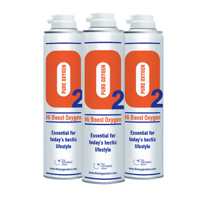 3 X 10L Pure Replacement Canned Portable Oxygen In A Can Canister • 37.99£