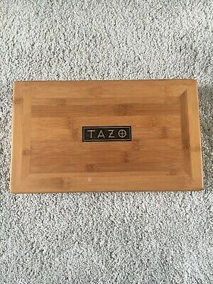 NEW TAZO Wooden Tea Box With 8 Compartments • 10£