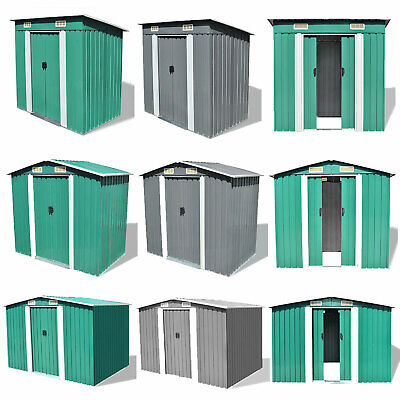 Garden Storage Shed Metal Pent Tool Equipment Galvanized Steel Cabinet Box NEW • 349.43£