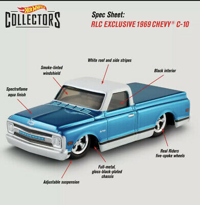 $65 • Buy Hot Wheels RLC Exclusive 1969 Chevy® C-10 IN HAND!