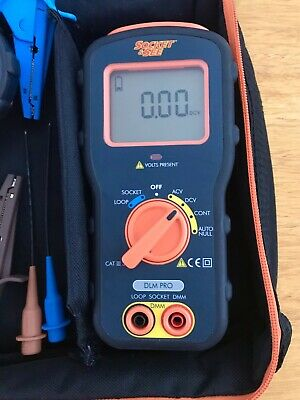 Socket And See DLMPRO Combined Digital Multimeter Loop And Socket Tester • 200£