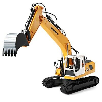 DOUBLE E 1/16 Scale Digger, Remote Controlled Construction Car Truck RC Excavato • 85£