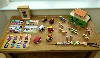 Wooden Toy Bundle Age 2 / 3 + Noah's Ark, Puzzles Etc Two / Three Year Old  • 30£