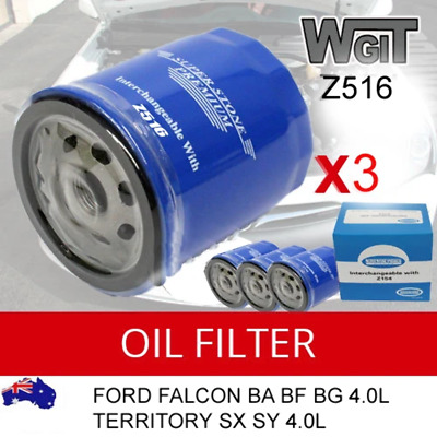 AU21.45 • Buy Oil Filters Z516 For Ford Falcon Ba Bf Bg 4.0l Territory Sx Sy 4.0l 3pcs