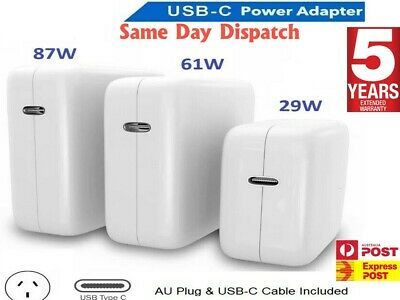 AU34.45 • Buy 30W 61W 87W USB-C Power Adapter Charger Type-C For Apple Macbook Air Pro Laptop