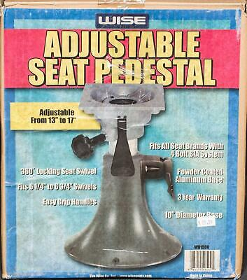 $ CDN93.27 • Buy Wise Adjustable Height Aluminum Boat Seat Pedestal WD1500 Bell