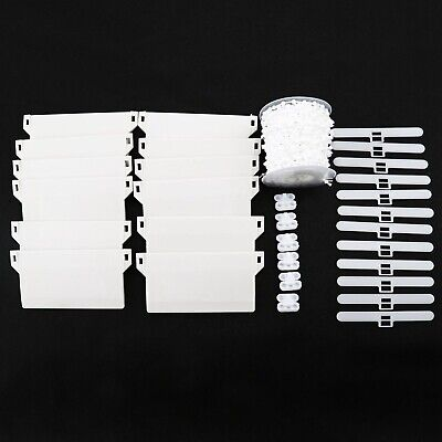 31Pcs 89mm Vertical Blind Accessories Hangers 10M Chain And Connector Plastic • 14.15£
