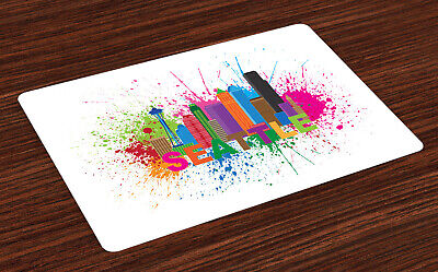 £16.99 • Buy Seattle Skyline Place Mats Set Of 4 Artwork In Paint
