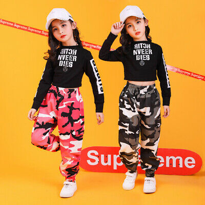 £15.84 • Buy Girls Street Dance Performance Clothing Hip Hop Jazz Dance Competition Costumes