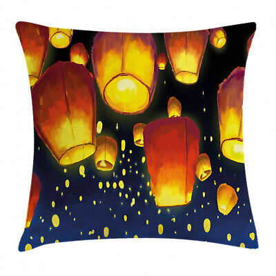 Lantern Throw Pillow Cushion Cover Floating Fanoos Chinese • 17.99£