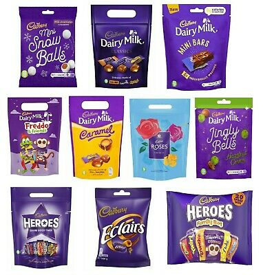 £9.20 • Buy Cadbury Christmas Chocolate Pouch Selection Eclairs Freddo Heroes Xmas Novelty
