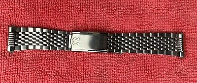 Omega Stainless Steel Mens Watch Strap, Geneva, Vintage, Used. • 165£