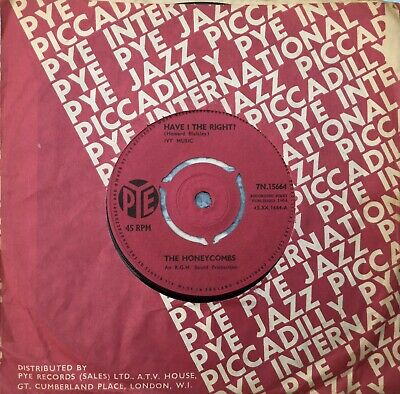THE HONEYCOMBS 'Have I The Right/Please Don't Pretend Again' Pye RGM Sound 45 • 2£