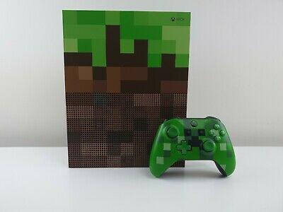 AU549.99 • Buy Microsoft Console Xbox One S Minecraft Limited Edition Bundle 1TB Green & Brown