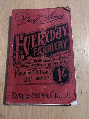 £26 • Buy 1900 FARRIERY SOFTCOVER BOOK HORSES CATTLE PIGS SHEEP 252 Pages Animals Vet