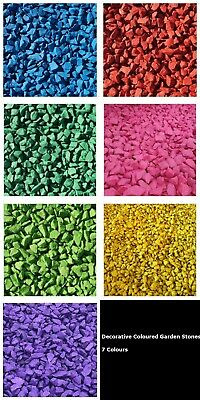 1kg Coloured Decorative Garden Stones 10-25mm Home Garden Memorial 7 Colours  • 7.49£