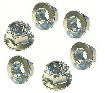 BZP  Metric Fine M10 X 1.25 Smooth Faced Locking Flange Nuts (Packs Of 6) • 9.95£