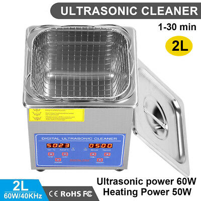 AU71.89 • Buy Digital Stainless Ultrasonic Cleaner Ultra Sonic Bath Cleaning Tank Timer Heater