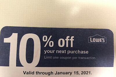 $0.99 • Buy Home Depot 10% OFF! Exp 01/15/21 Coupon That ONLY WORKS @ COMPETITOR Home Depot