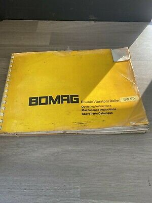 £35 • Buy Bomag Bw65 Double Drum Vibrating Roller Operating Maintenance Spare Part Manual