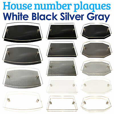 Modern HOUSE PLAQUES / PLAQUE / DOOR / NUMBER / GLASS EFFECT ACRYLIC / Wall Sign • 4.45£