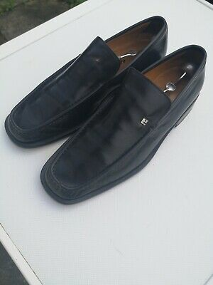 Mens BALLY Taurano 100% Leather, Black Slip-on Loafer Shoes UK 8 E • 40£