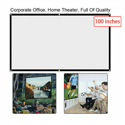 £6.19 • Buy 100 Inch Projector Projection Screen Film 16:9 Matte HD Home Cinema Theater UK