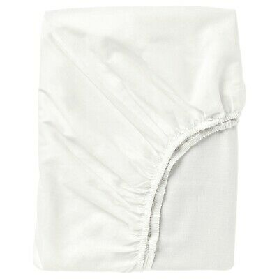 Ikea FARGMARA Fitted Sheet, Great Quality White 4 Sizes, • 16£