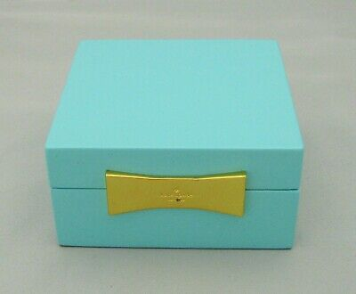 $ CDN26.81 • Buy KATE SPADE Garden Street Turquoise Lacquer Square Jewelry Box 4  LENOX Signature