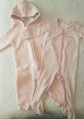 AU8 • Buy Baby Girl Romper Onepiece BUNDLE X2 Marquise, Anko Baby Size 0 / 6 - 12 Months