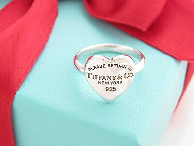 £210.05 • Buy Tiffany & Co Silver Return To Heart Ring Band Size 6