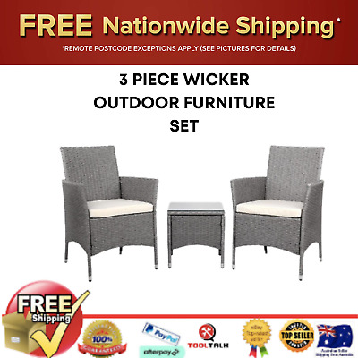 AU225.25 • Buy Gardeon Patio Furniture Outdoor Setting Bistro Set Chair Side Table 3 Piece