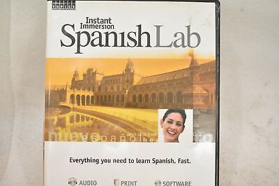 £20.14 • Buy Instant Immersion Spanish Lab 40203 8 Cd's Software Dvd Learn Spanish