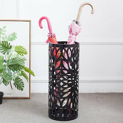 AU35.69 • Buy Fashion Steel Umbrella Stand Umbrella Walking Cane Stick Holder Storage In BLACK