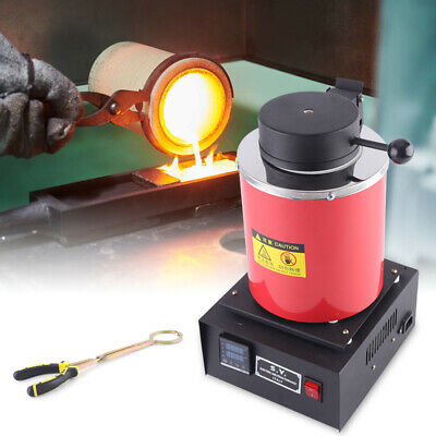 1400W Electric Metal Melting Furnace Gold Silver Copper Jewelry Smelter Melter • 165£