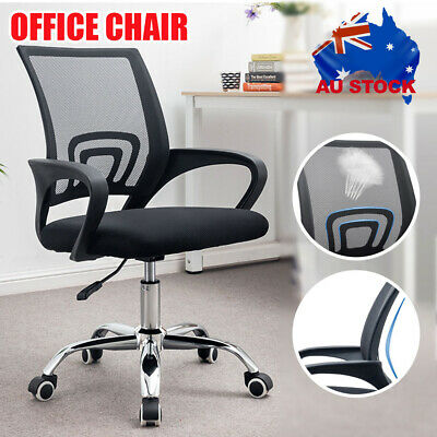 AU47.99 • Buy Office Chair Gaming Chair Computer Mesh Chairs Work Executive Seating Study Seat