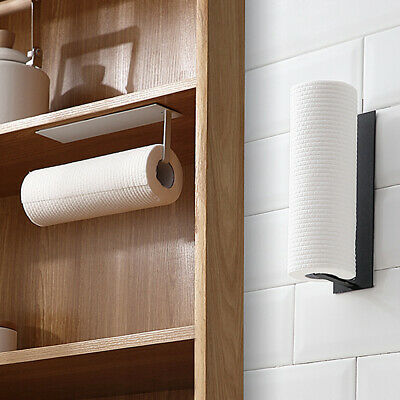 Under Cabinet Kitchen Roll Paper Holder Toilet Towel Towel Rack Self Adhesive • 8.99£