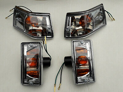 Vespa Px Pe P200e Chrome Clear Lenses Indicators Set Of 4 • 30£