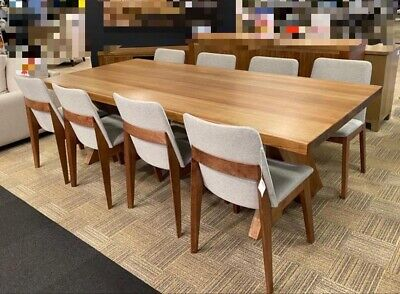 AU3300 • Buy BRAND NEW NEVER USED 9 Piece Solid Timber Dining Table With Dining Chairs.