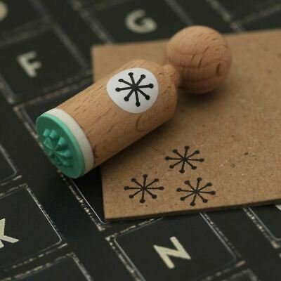 £4.25 • Buy Snowflake Very Mini Wooden Rubber Stamp Craft / Scrapbooking / Christmas