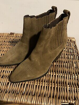 Superdry Womens The Edit Chunky Chelsea Cowboy Boots Uk 4 • 48£