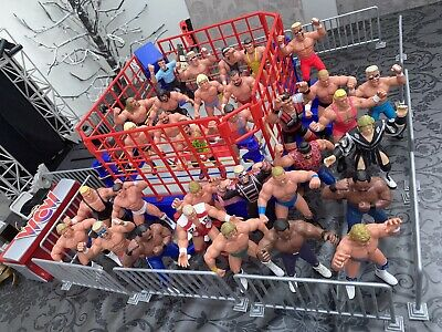 WCW Galoob Ring Figures Stage Arena & Accessories The Complete Collection • 1,800£