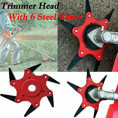 AU14.45 • Buy 6 Steel Blades Razors 65Mn Lawn Mower Trimmer Head Grass Weed Eater Brush Cutter
