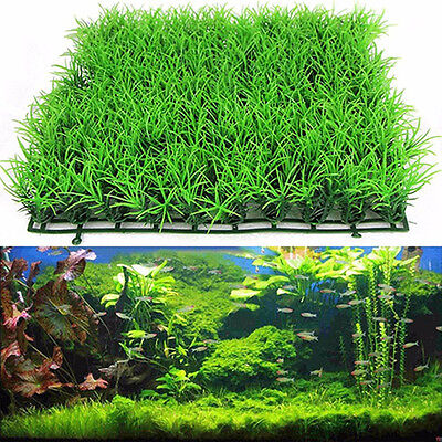 MCArtificial Water Aquatic Green Grass Plant Lawn Aquarium Fish Tank Landscap*bp • 3.77£
