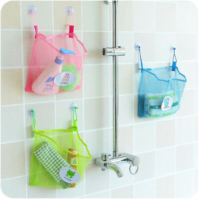 Bath Time Tidy Storage Toy Suction Cup Bag Mesh Bathroom Organiser Net D*bp • 3.88£