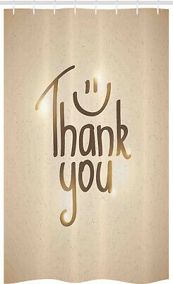 Thank You Stall Shower Curtain Simple Words Smiling Sign • 17.99£