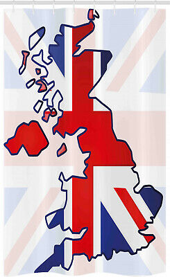 £17.99 • Buy Union Jack Stall Shower Curtain Country Map Flag