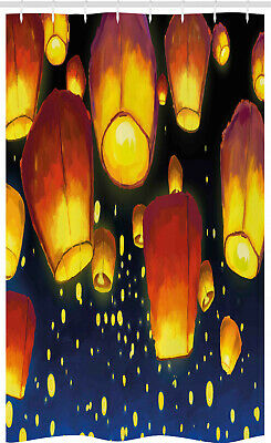 Lantern Stall Shower Curtain Floating Fanoos Chinese • 17.99£