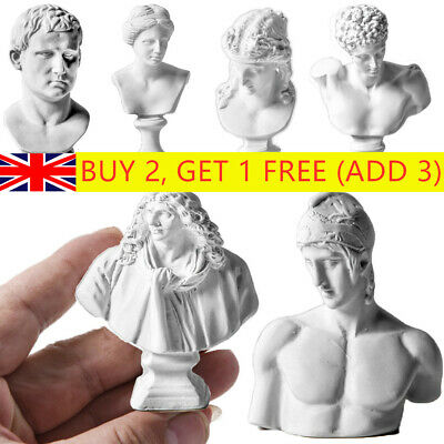 Famous Sculpture Plaster Bust Statue Greek Mythology Figurine Gypsum Portraits- • 4.12£
